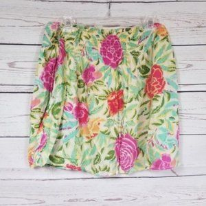 🛍 Stretchy floral mini skirt size 8